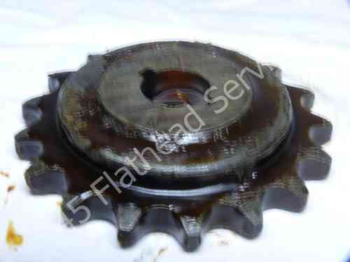sprocket countershaft, 17 tht NOS WL