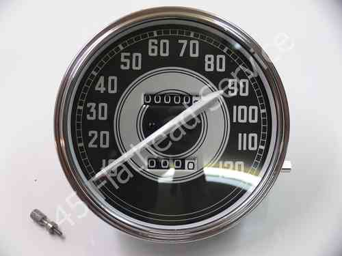 speedometer black/silver MPH, correct white needle '41up,all