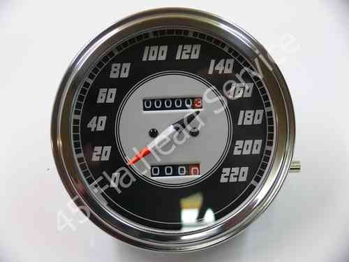 speedometer black silverKM/H airplane needle,all